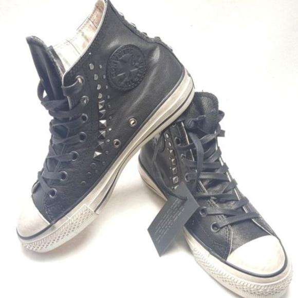John Varvatos Studded Leather Hi All